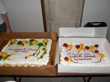 Symposium 10th Anniversary Cakes