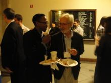 Visiting scholar Dr. Sylvester Johnson and Dr. John Kelsay